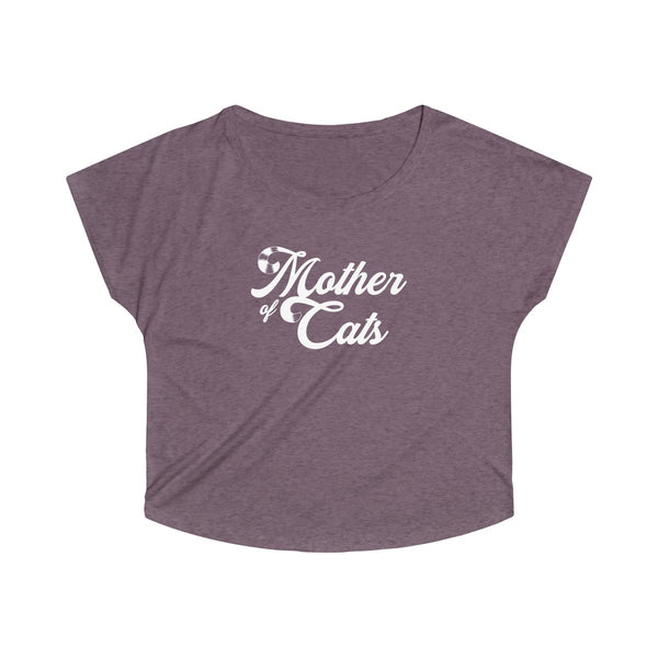 Mother Of Cats . White . Women's Dolman