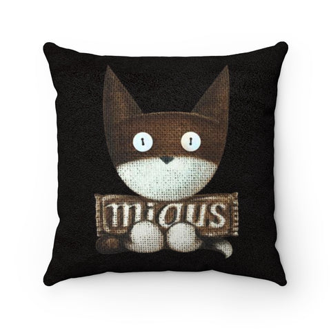 Meta . Black . Faux Suede Square Pillow