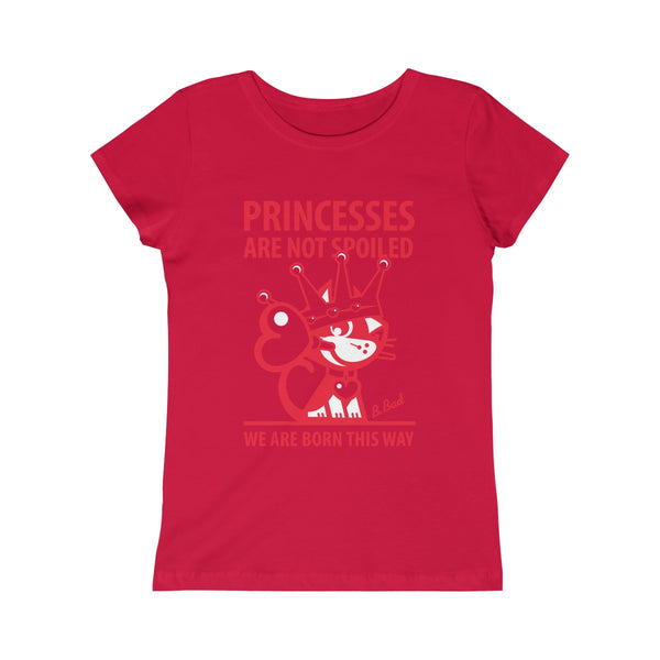 Girls Princess Tee, 100% Cotton, Unique T-Shirt for Kids, Betty Bad Kitty