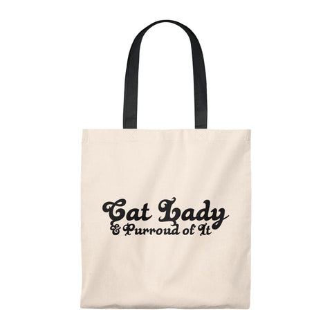 Cat Lady . Black . Tote Bag