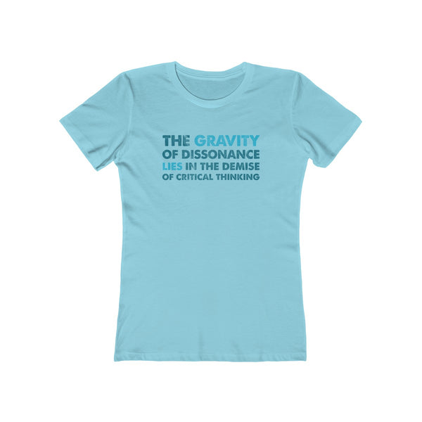 SACRED CLOWNS . The Gravity . Blue-Turquoise . Women's The Boyfriend Tee