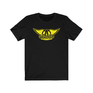 Sweet Emotion . Black On Yellow Logo . Unisex Cotton Tee