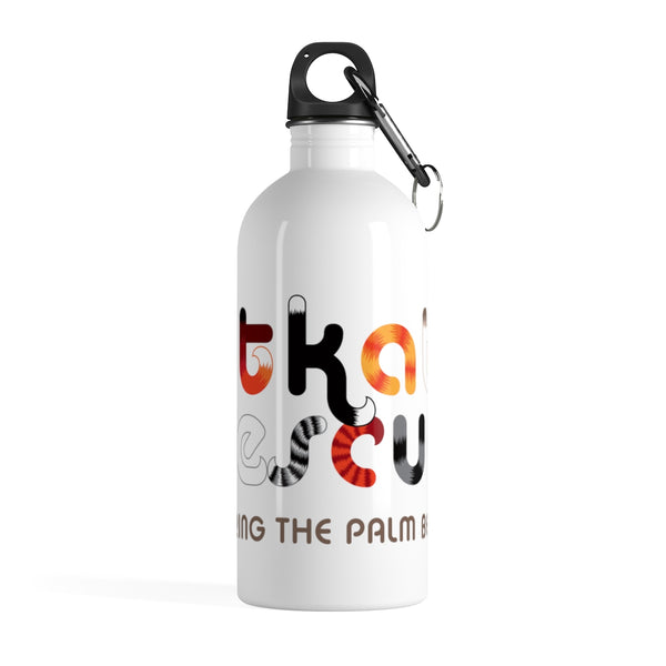 KitKats Rescue . Color Logo . Stainless Steel Water Bottle