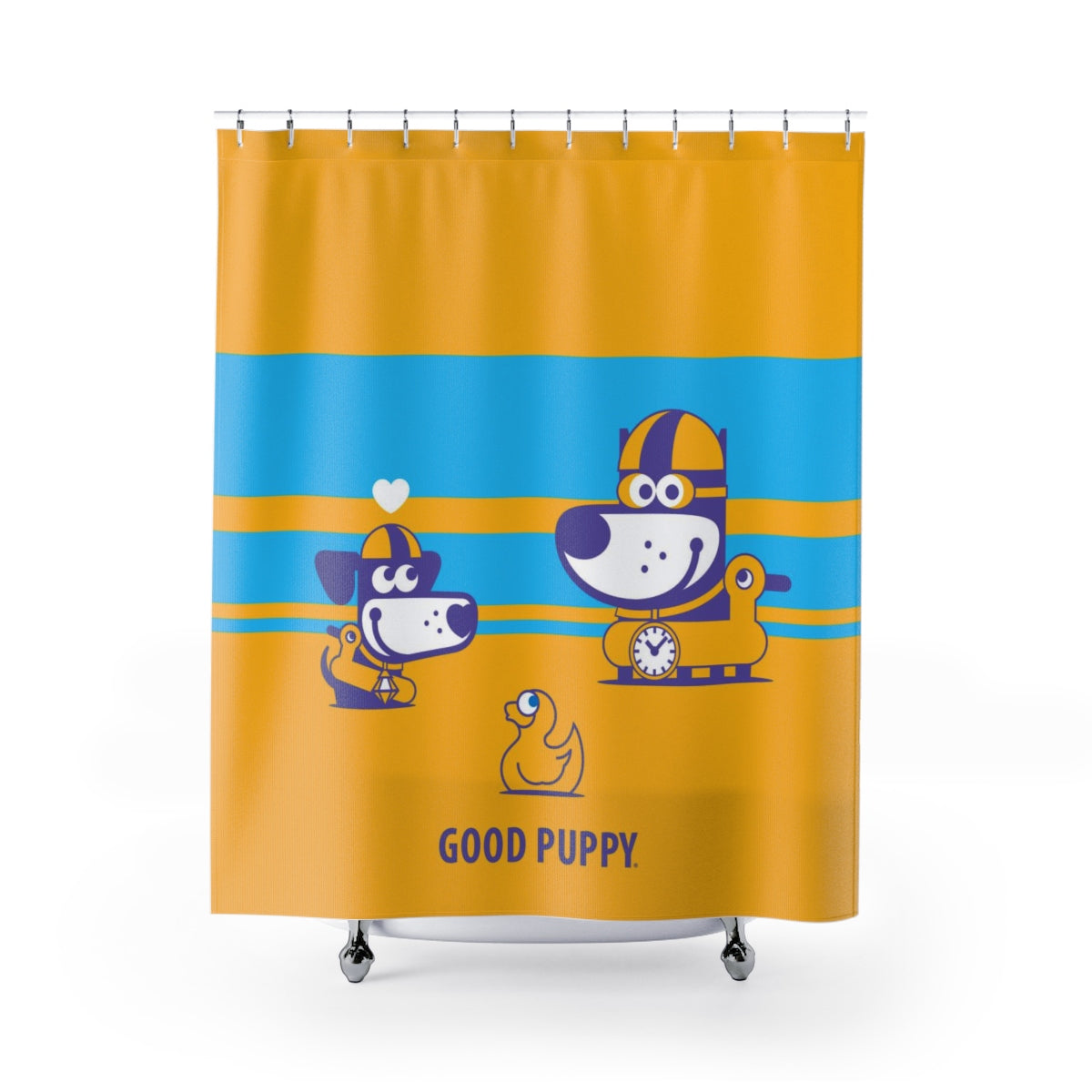 Bath Puppy II . Shower Curtain