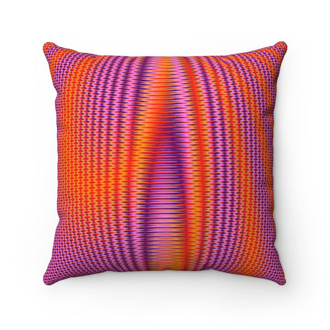 Inner Light III . Faux Suede Square Pillow