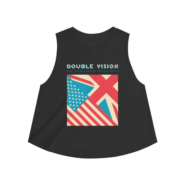 Double Vision . Blue On Dark . Women's Crop Top