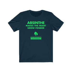 Absinthe Makes The Heart Grow Fonder . Unisex Cotton Tee