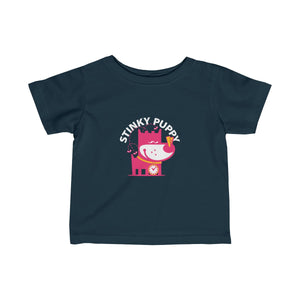 Stinky Puppy III . Infant Fine Jersey Tee