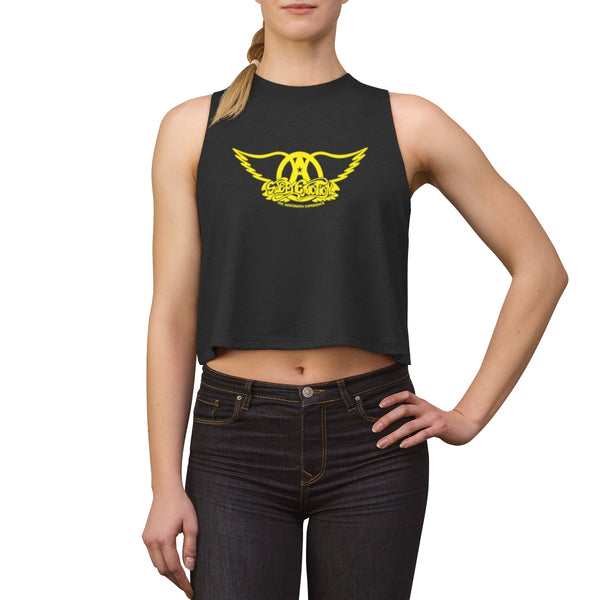 Sweet Emotion . Yellow Logo . Women's Crop Top