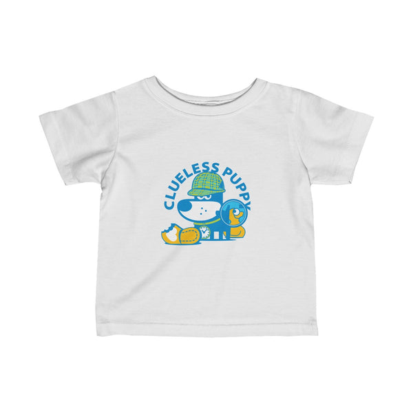 Clueless Puppy I . Infant Fine Jersey Tee