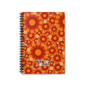 KitKats Rescue . Orange Flower Bed . Spiral Notebook - Ruled Line