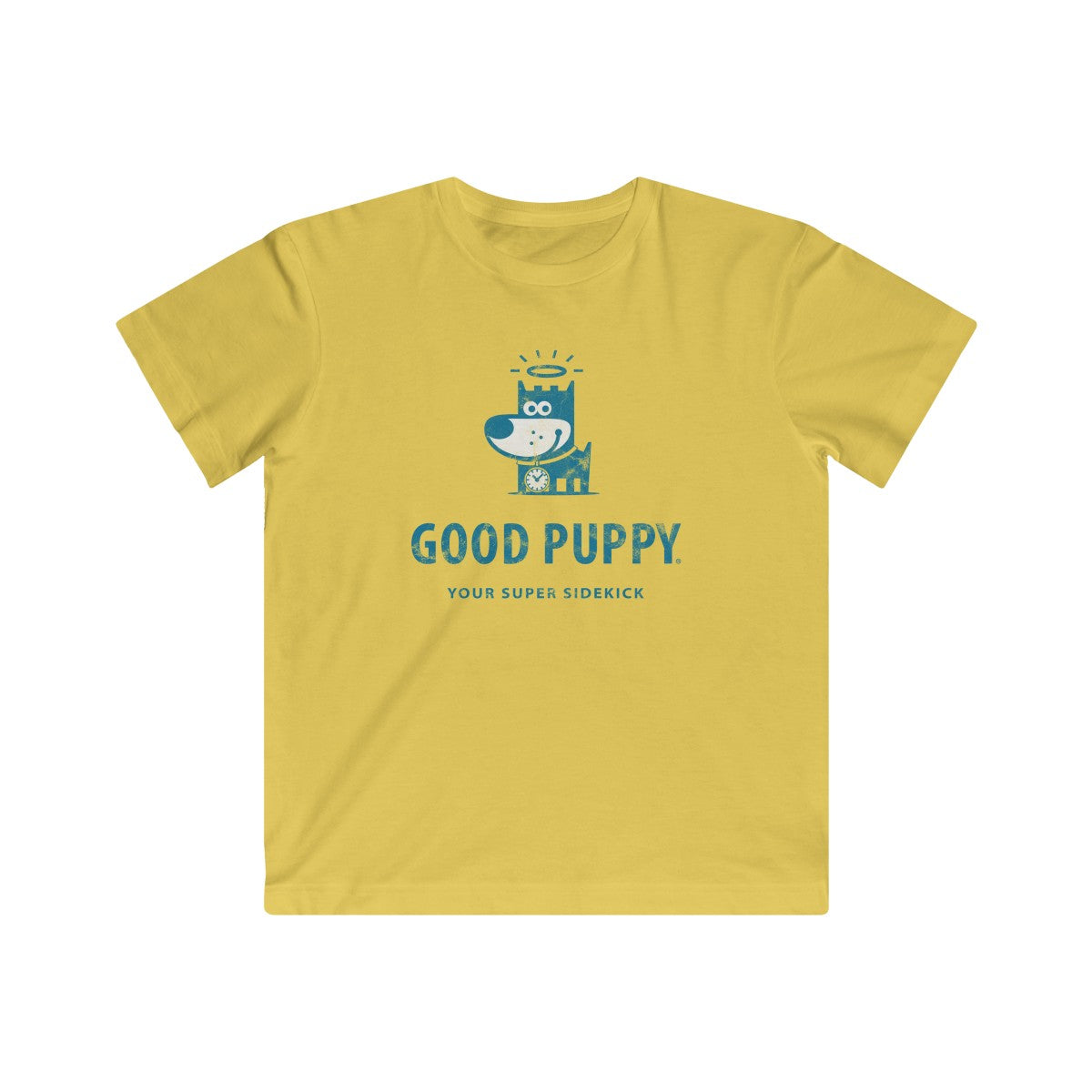 GOOD PUPPY . Logo . Blue Print . Kids Fine Jersey Tee