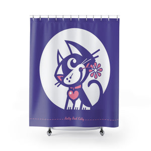 Betty Bad Kitty MoonFlower II . Shower Curtain