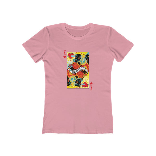 GEORGE'S DRAGON . Stack The Deck . King Of Hearts . Women's The Boyfriend Tee