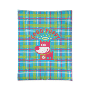 Good Puppy Plaid III Green . Comforter . Small