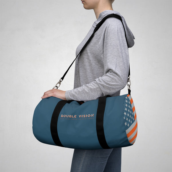 Double Vision . Orange & Blue. Duffel Bag