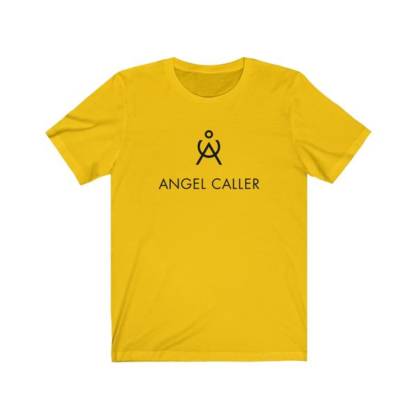 Angel Unisex Cotton Tee Black And Yellow