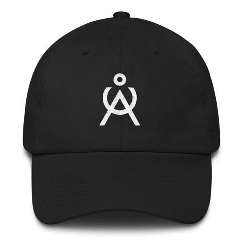 Angel Caller Logo Black Unstructured Baseball Cap