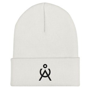 Angel Caller . Logo Knit Hat . White