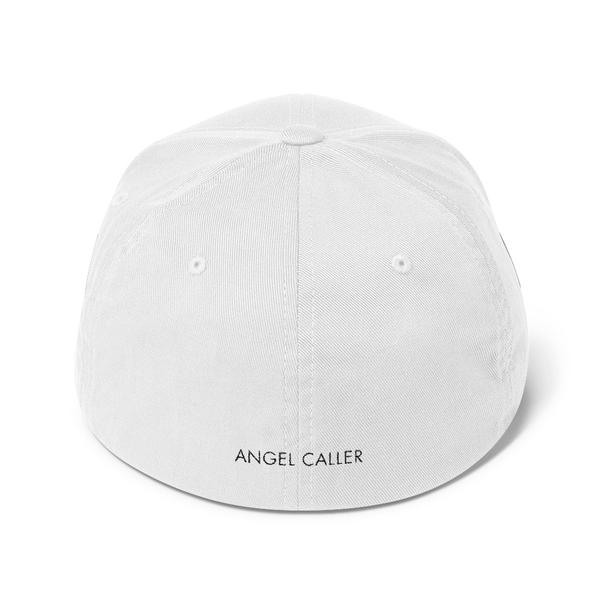 Angel Caller White Structured Baseball Cap