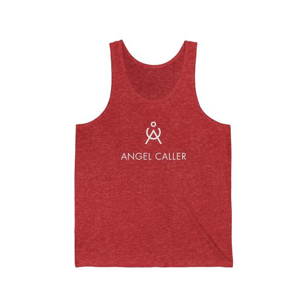 Angel Caller Logo Unisex Tank Red