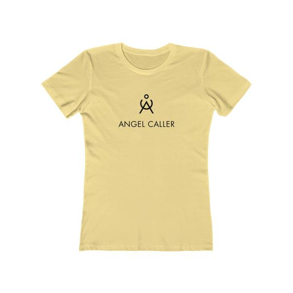 Angel Caller Women's Super Soft Boyfriend Tee Banana Cream