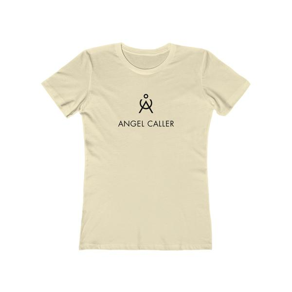 Angel Caller Women's Super Soft Boyfriend Tee Ivory Natural