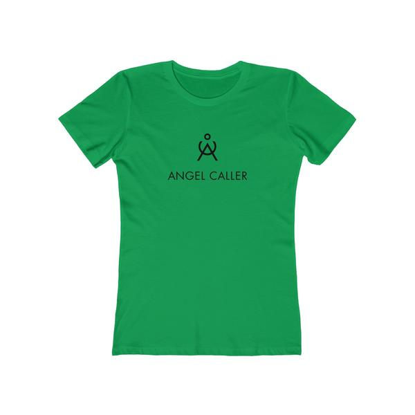 Angel Caller Women's Super Soft Boyfriend Tee Kelly Green