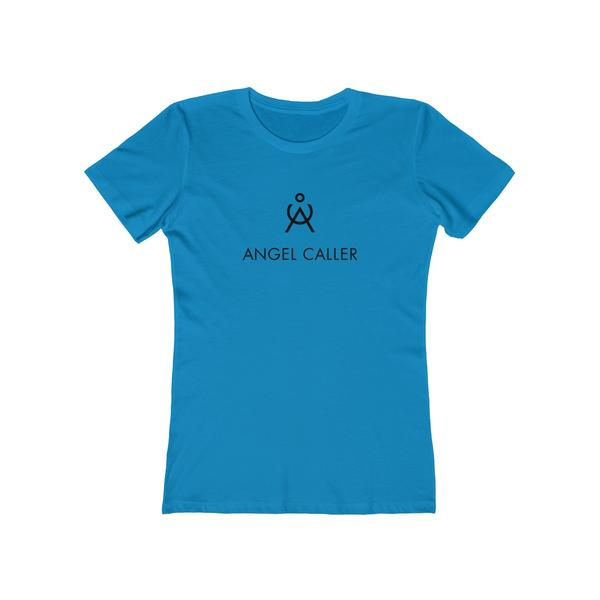 Angel Caller Women's Super Soft Boyfriend Tee Solid Turquoise