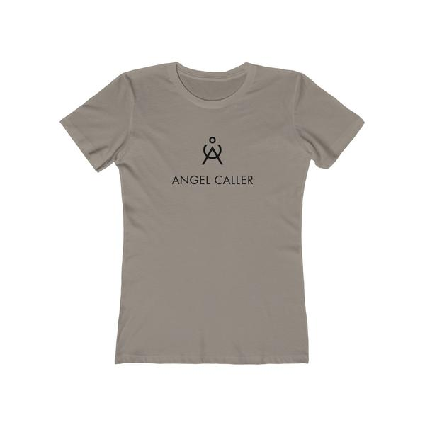 Angel Caller Women's Super Soft Boyfriend Tee Warm Gray