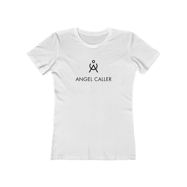 Angel Caller Women's Super Soft Boyfriend Tee White