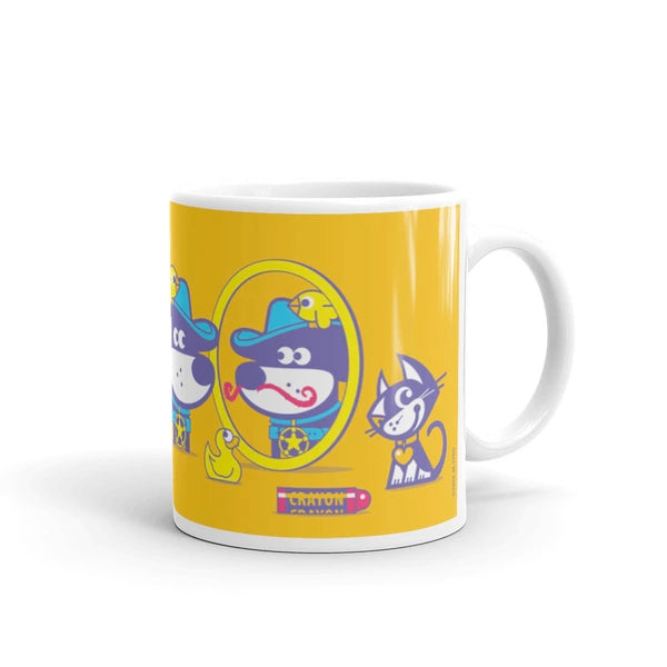 The Good Puppy Gang Children's Ceramic Mug Yellow and Purple