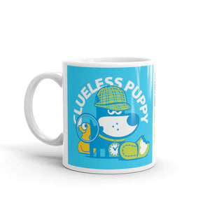 Clueless Puppy Good Puppy Children's Character Ceramic Mug Blue Green
