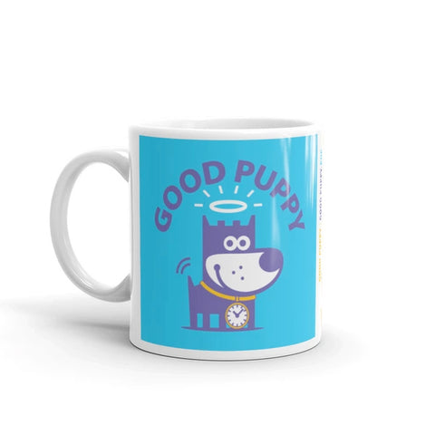 Puppy Play Good Puppy Children's Character Ceramic Mug Blue Yellow Purple