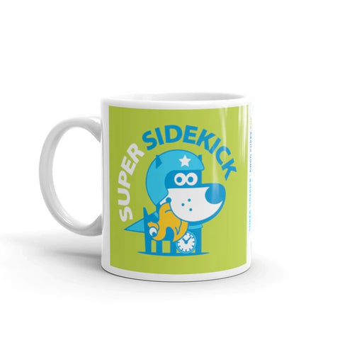 Super Puppy Children's Character Ceramic Mug Green Blue