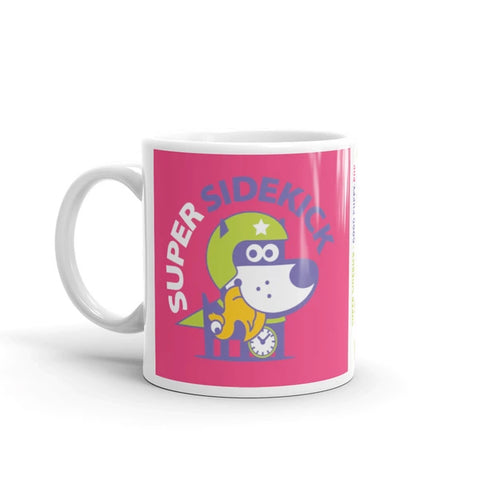 Super Puppy Children's Character Ceramic Mug Green Hot Pink
