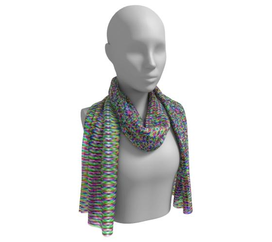Colorful Geometric Long Scarf
