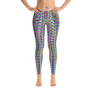 Vibrant Colorful Geometric Super Soft Women's Leggings