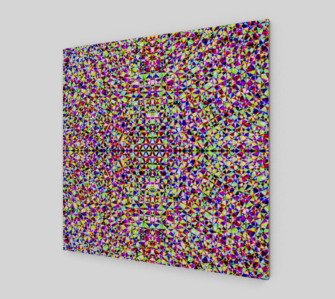 Modern Multicolored Geometric Fine Art Wood Print