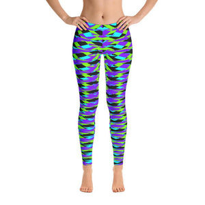 Vibrant Blue Geometric Super Soft Women's Leggings