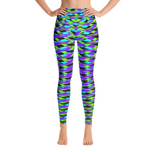 Vibrant Blue Geometric Women's Yoga Leggings