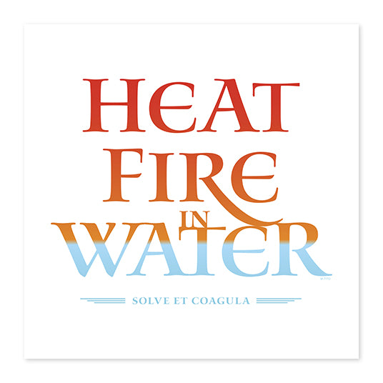 Heat Fire In Water . Wood Print