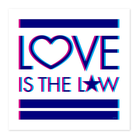 Love Is The Law . Wood Print