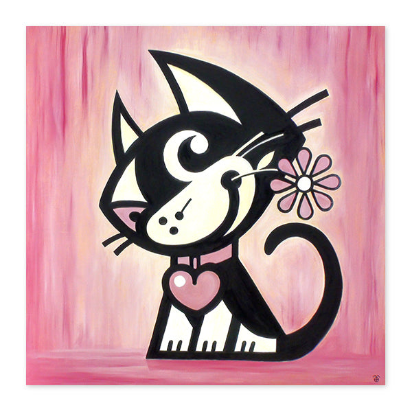 Cat Fine Art Wood Canvas Unique Home Decor. Betty Bad Kitty