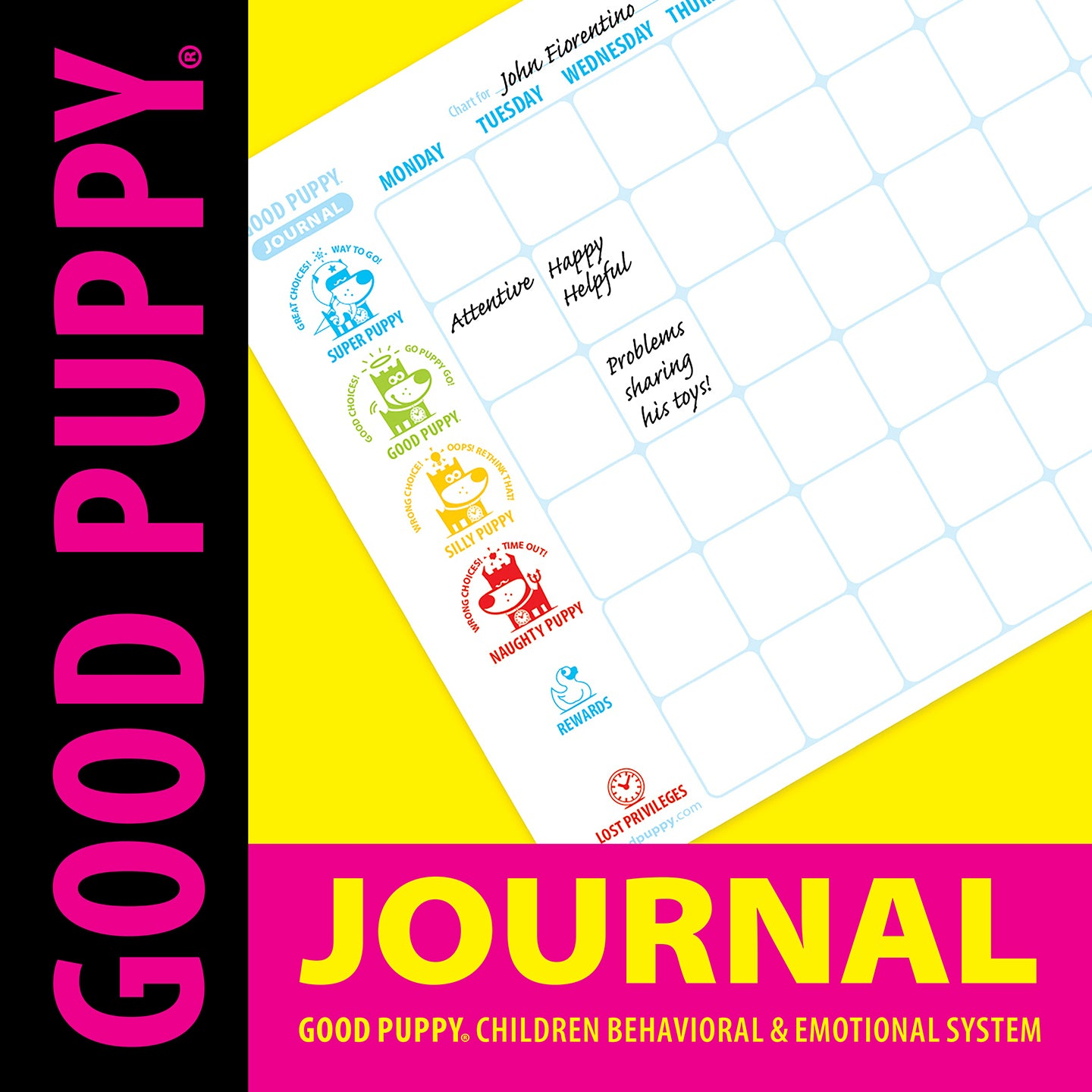 GOOD PUPPY . Printable PDF . Weekly Journal Pages