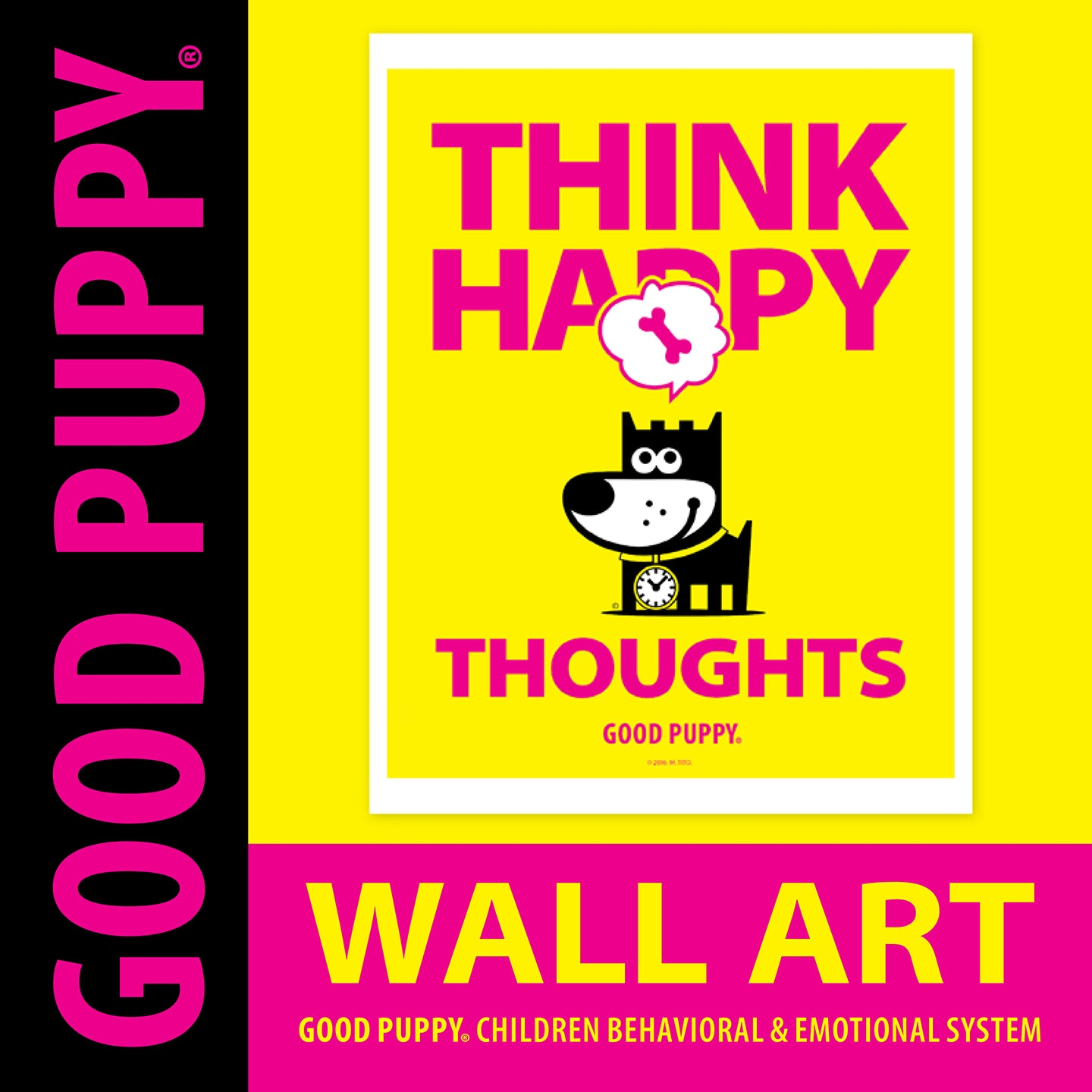 "GOOD PUPPY . Printable PDF . Wall Art ""Think"""