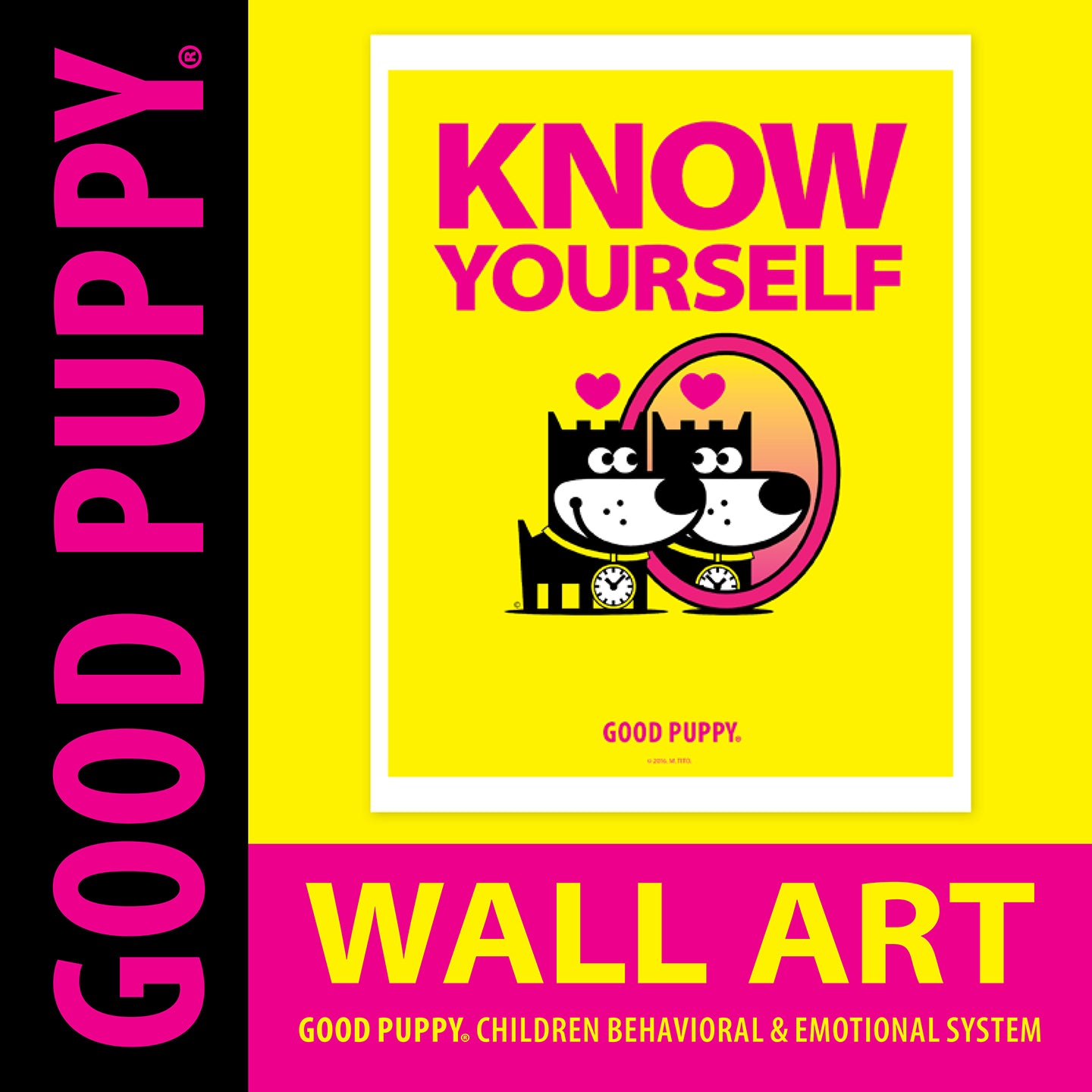 "GOOD PUPPY . Printable PDF . Wall Art ""Know"""