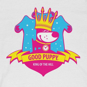 GOOD PUPPY King Of The Hill . Pop Print . Unisex Jersey Short Sleeve Tee