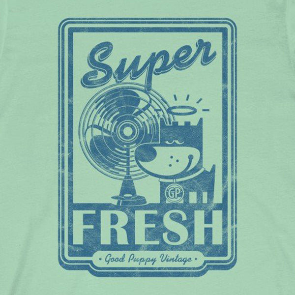 GOOD PUPPY VINTAGE . Super Fresh . Blue Print . Unisex Jersey Short Sleeve Tee