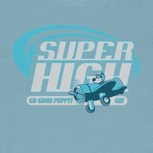 Super High . Blue Print . Unisex Cotton Tee